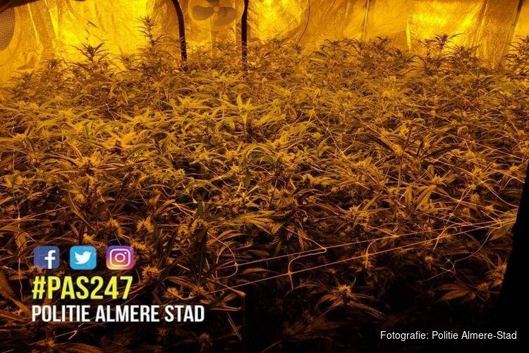 Politie ontdekt hennepkwekerij in centrum Almere-Stad