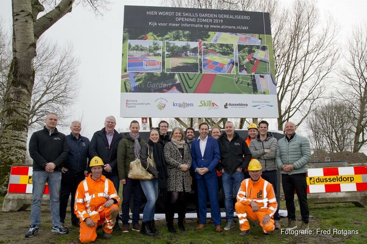 Start aanleg unieke Skills Garden in Stadswerfpark Almere Haven