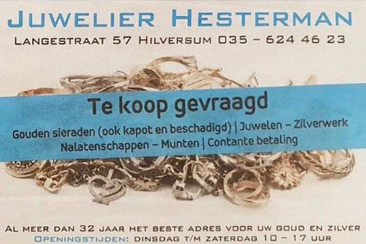 In- en verkoop van goud bij juwelier Hesterman