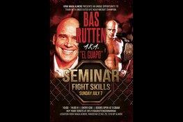 Bas Rutten geeft seminar in Topsportcentrum Almere
