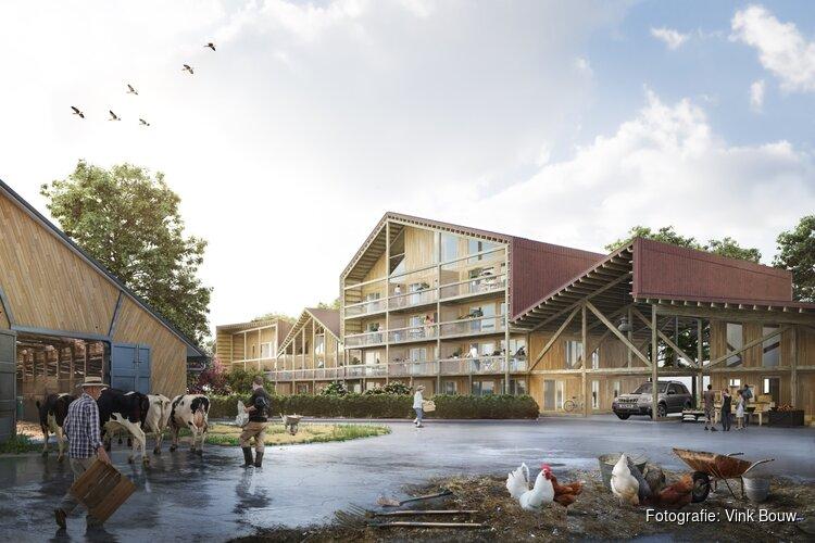 De bouw van de appartementen op het boerenerf Vliervelden is gestart
