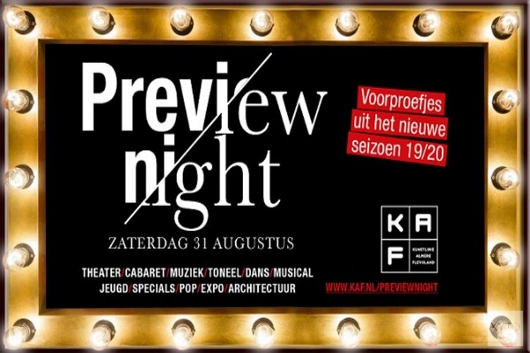 Preview Night KAF Almere op 31 augustus