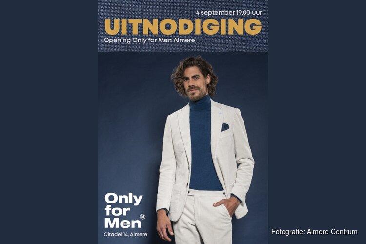 Donderdag 5 september opening Only for Men Almere