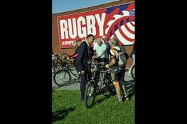 Tandemfietstocht bij rugby vereniging RC Bulldogs Almere