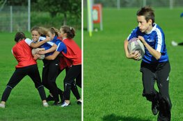 Leerlingen sportklas OVC vlammen op het Bulldogs rugby toernooi