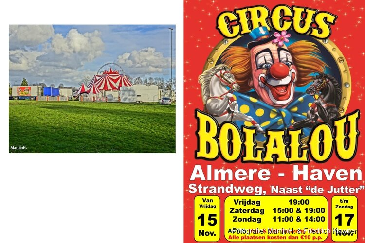 Circus komt met vele dieren naar Almere-haven!
