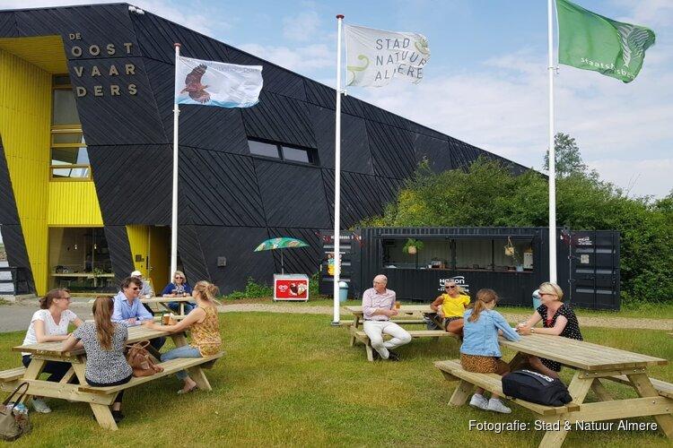 Nieuw terras en natuurkiosk bij Natuurbelevingcentrum de Oostvaarders