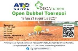 DECAtuinen Open Dubbel Toernooi van 17 t/m 23 augustus