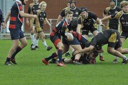 Eerste competitie wedstrijd Rugby Club Bulldogs Almere een spektakel