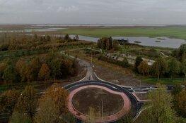 Nieuwe rotonde bij entree Nationaal Park Nieuw Land