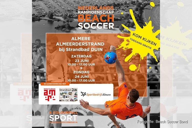 Voorronde Nederlands Kampioenschap Beach Soccer in Almere