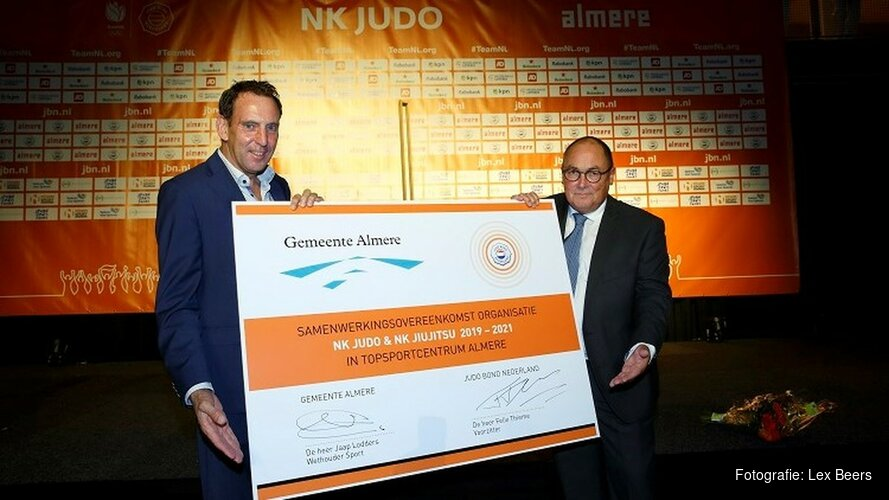 Gemeente Almere en Judo Bond Nederland verlengen overeenkomst