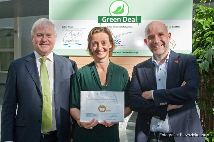 Flevoziekenhuis, gemeente Almere en Omgevingsdienst Flevoland & Gooi en Vechtstreek sluiten Green Deal Zorg