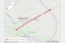 Afsluiting N706 Vogelweg Almere